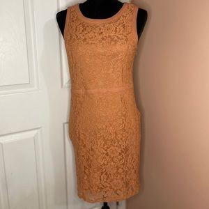 Forever 21; Lace apricot dress